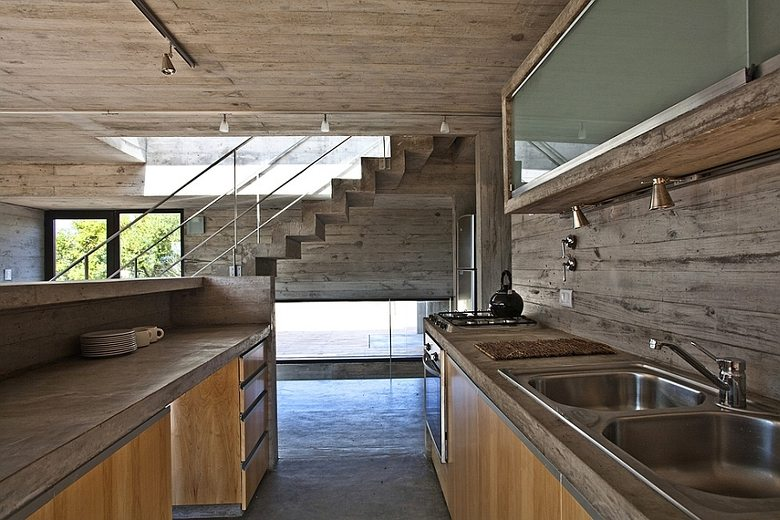 industrial kitchens exposed wood