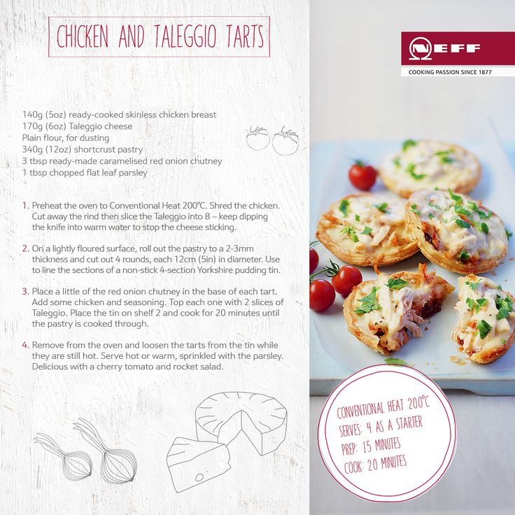 Kdc recipe chicken taleggio tarts