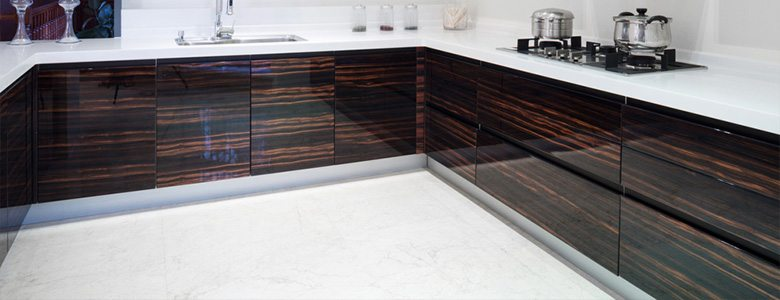 A high gloss finish flooring