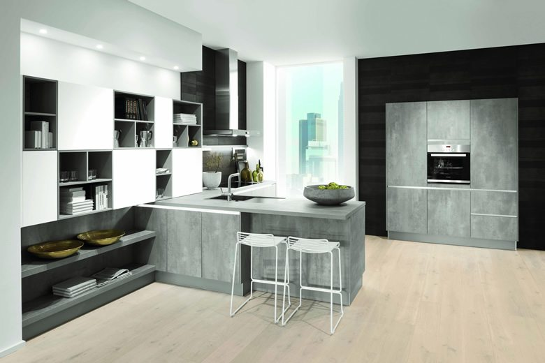 Comet Putty Concrete Pearl Grey kitchen