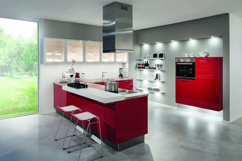 Laser Brillant Chili Red kitchen