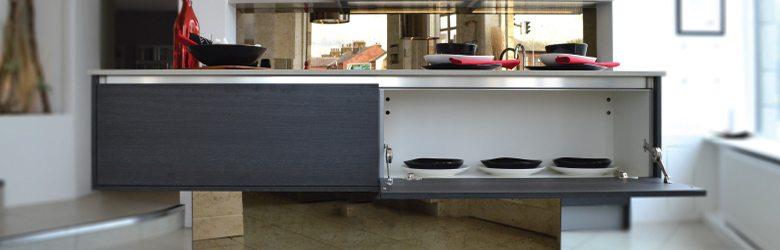 convenient kitchen storage