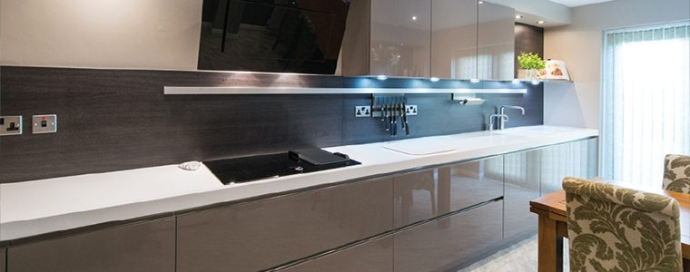 Example of a high gloss kitchen
