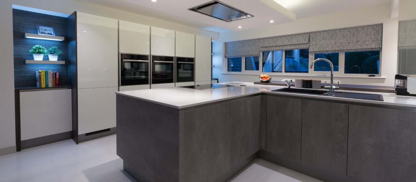 A state of the art designer kitchen