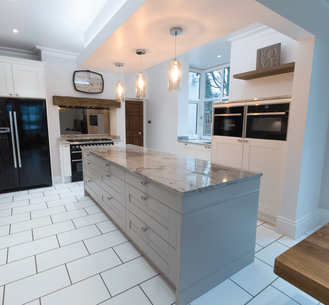 Our customer kitchens installations kitchen design centre for Contemporary shaker style kitchen