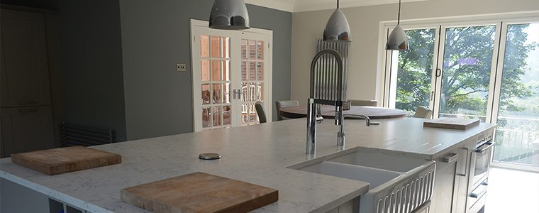A rustic kitchen design