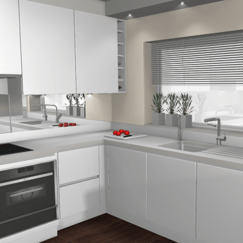 The Minimalist Kitchen -3D Computer Model