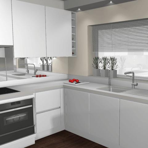 The Minimalist Kitchen -3D Computer Model