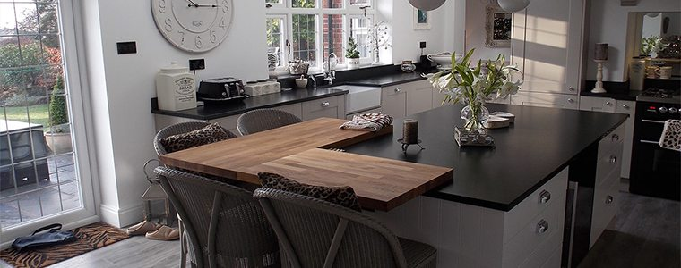 How to add wood into your kitchens design wooden corner bar