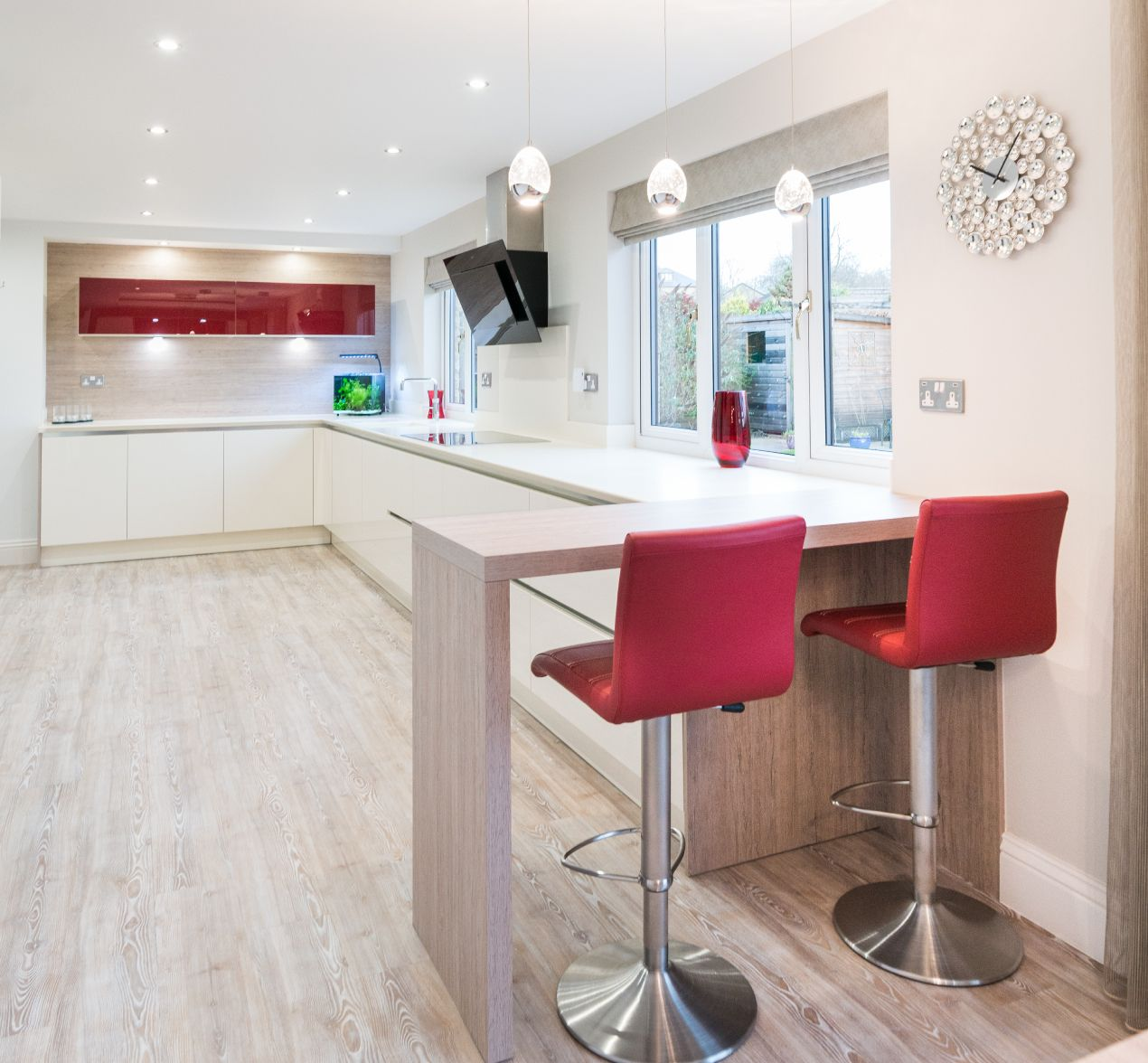 Modern German Designer Open Plan Kitchen Barrowford