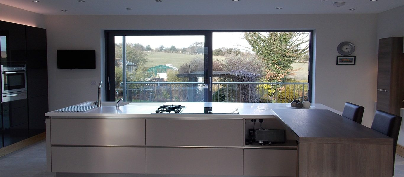 Addingham Kitchen overlooks Yorkshire Dales
