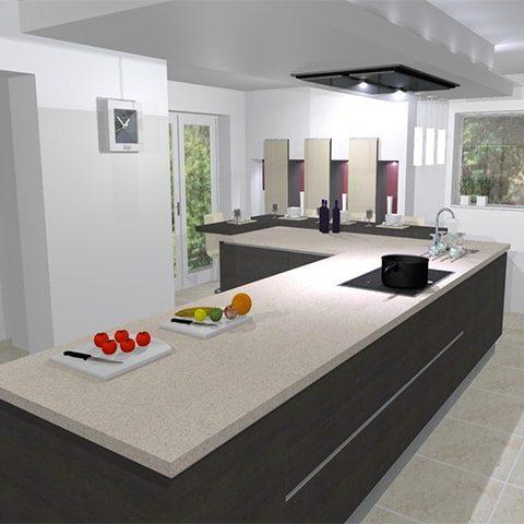 An innovative unique kitchen design in WhalleyKitchen Design