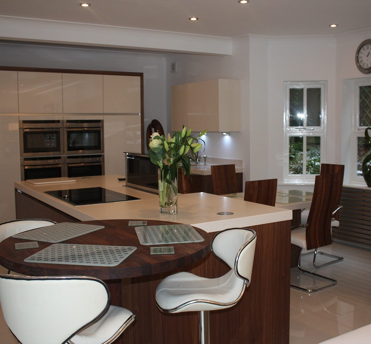 Big bright kitchen design customer kitchens kitchen for Big beautiful kitchens