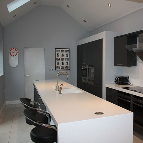 Cramped kitchen converted into luxurious and practical living space