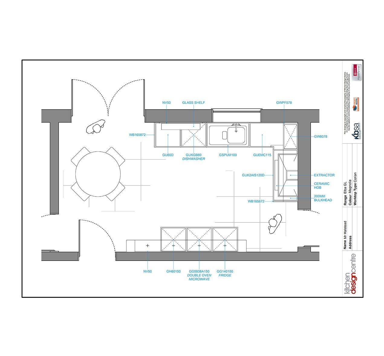 Efficient designer kitchen transformation kitchen design for Most efficient kitchen layout