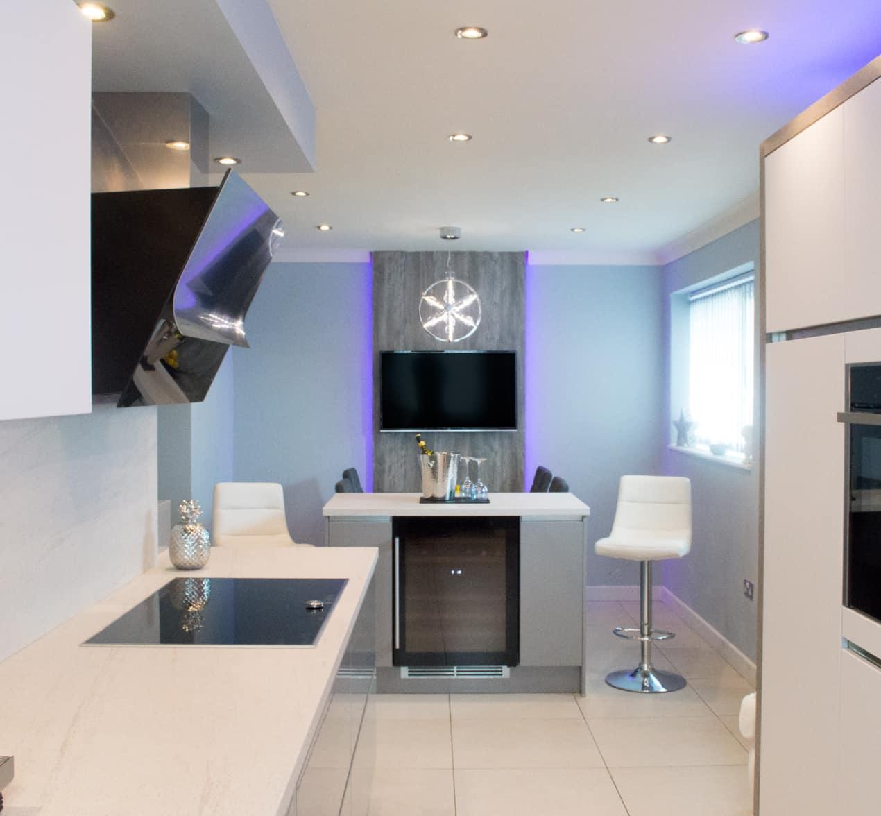 Stylish Grey Modern Kitchen Installation