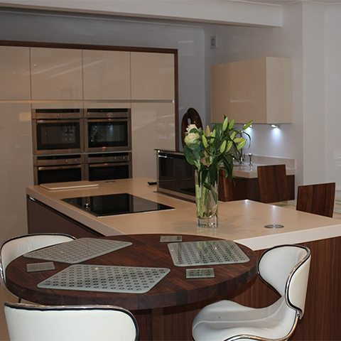 big, bright and beautiful kitchen design in bowdon finished kitchen