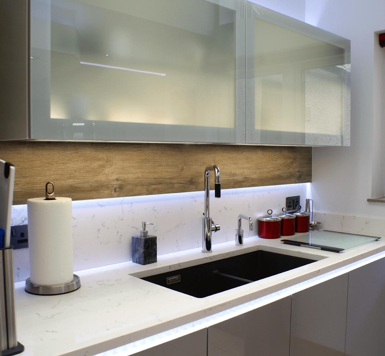 Designer Red Kitchen