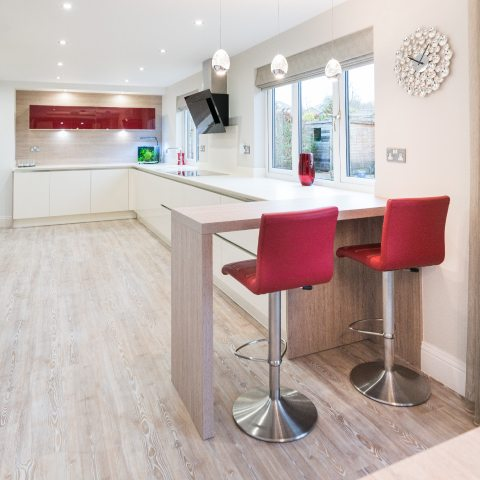 modern open plan kitchen finished kitchen