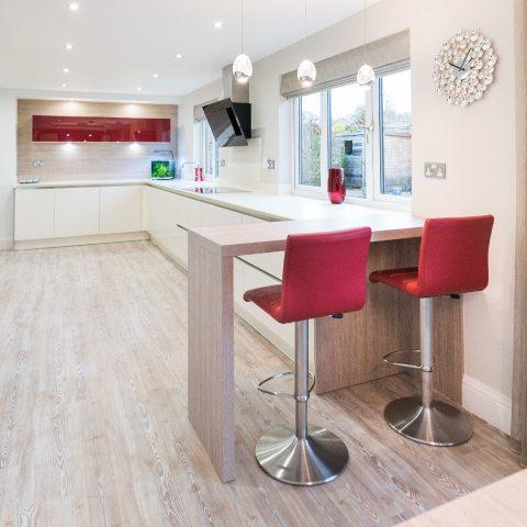 modern open plan kitchen finished kitchen