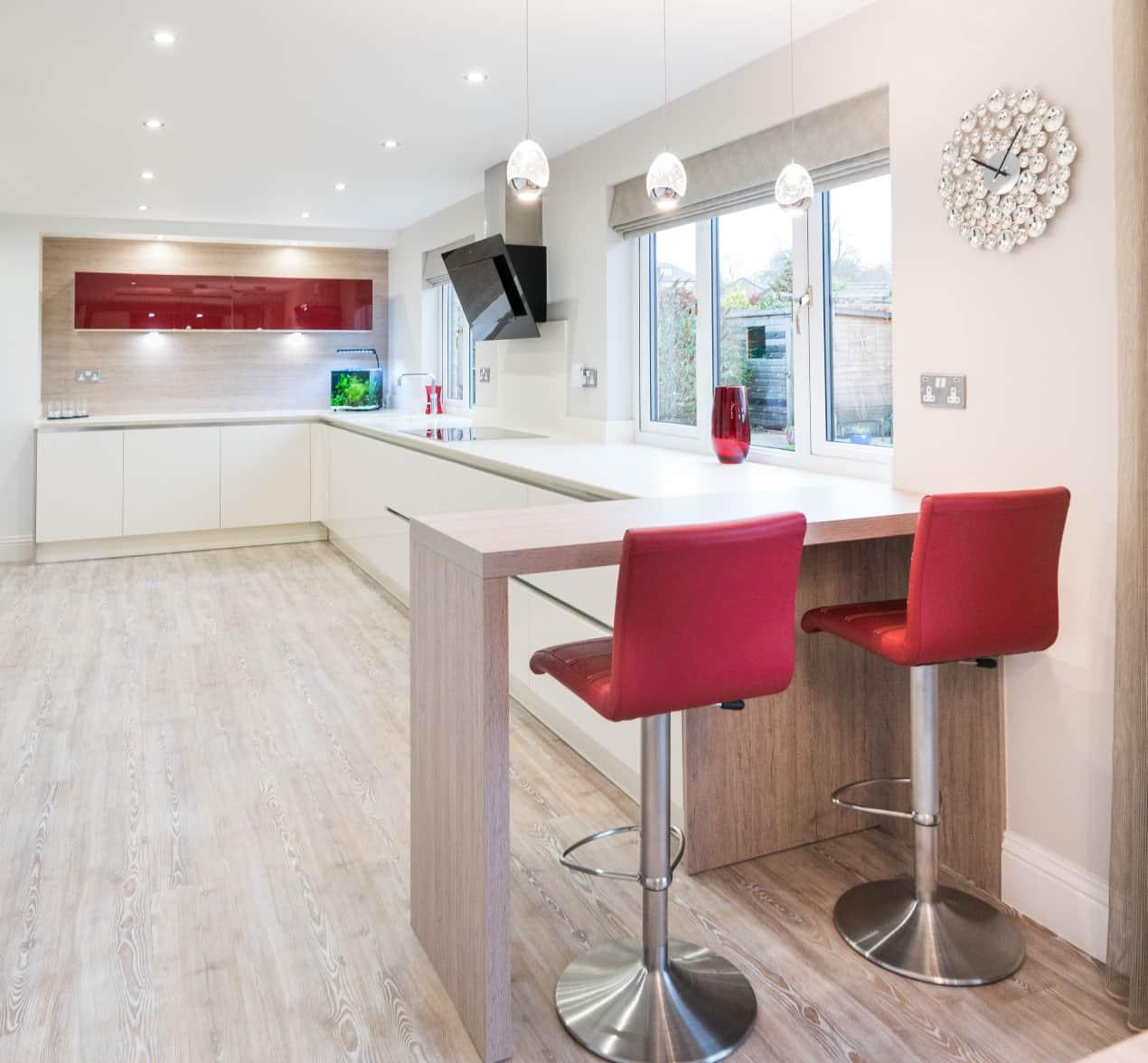 Modern German Designer Open Plan Kitchen Barrowford