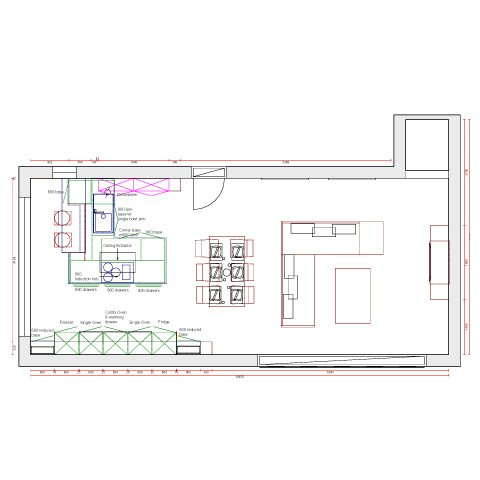 A State Of The Art Designer Kitchen Plan