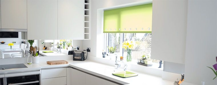 adding bright colours to a kitchen