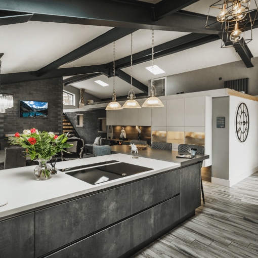 An Open Plan Barn Conversion In Shades Of Grey