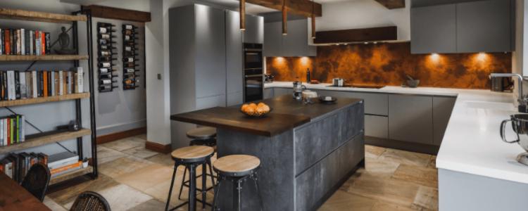 copper accent kitchen