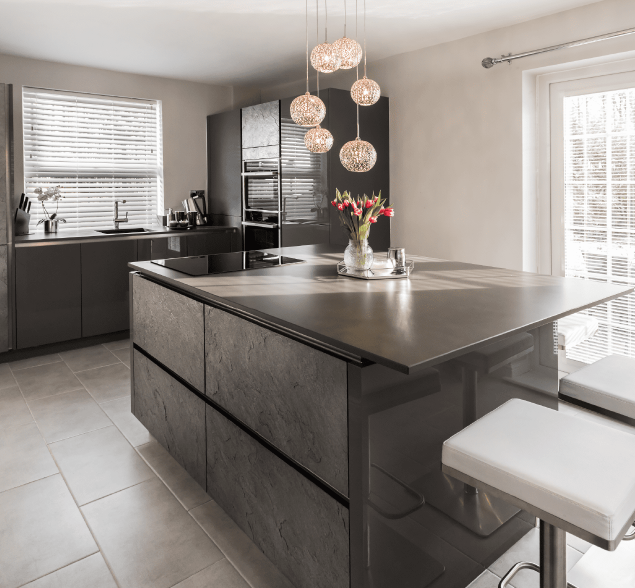 A Contemporary Social Kitchen With An Island
