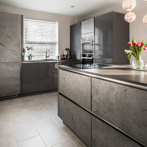 A Contemporary Sociable Kitchen with an island