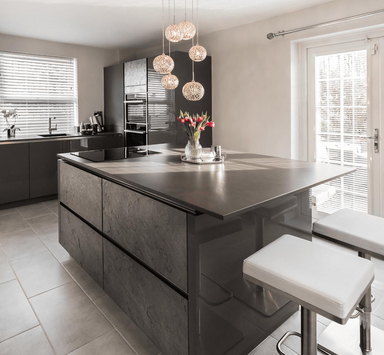 contemporary sociable kitchen