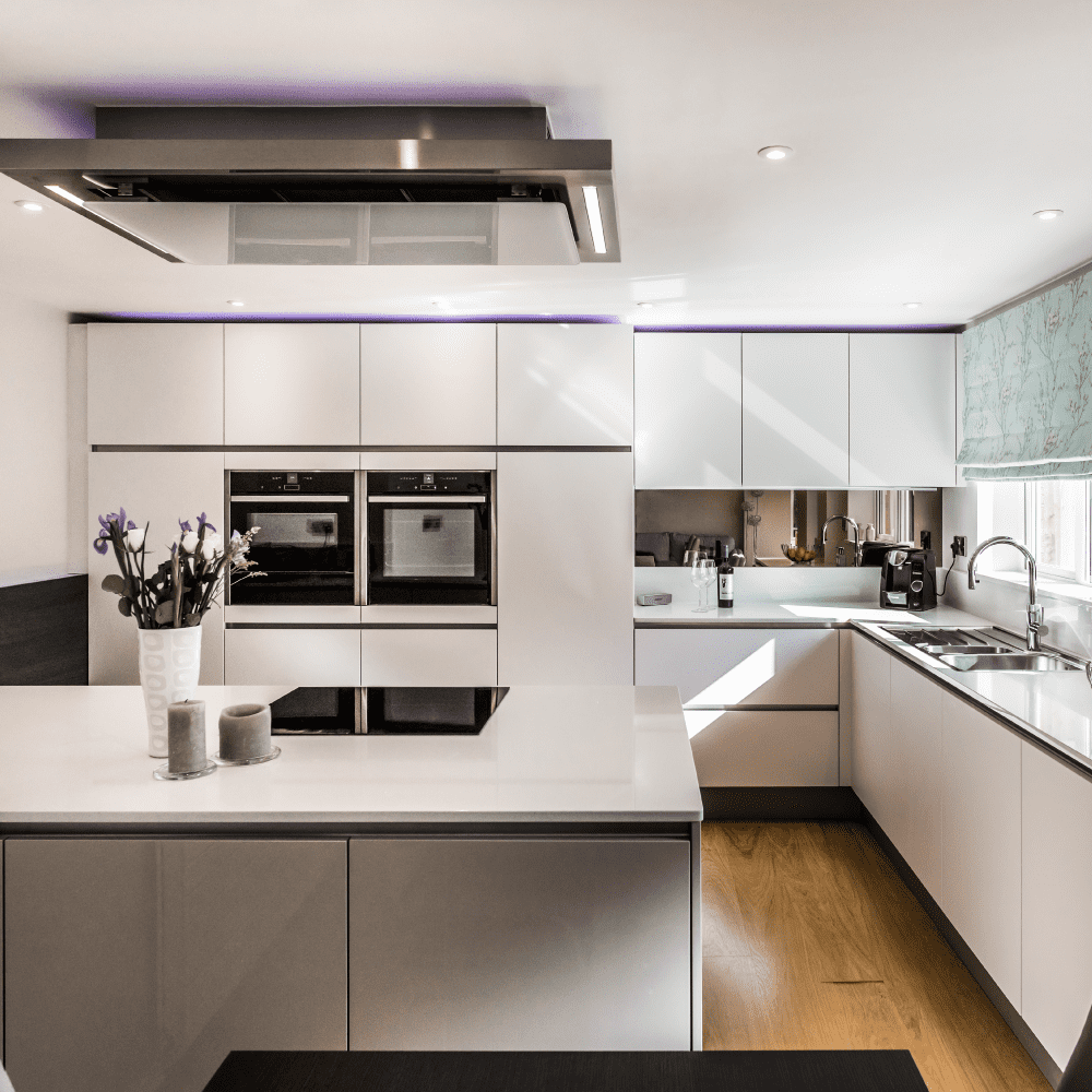 Turning an old fashioned 'U' shaped kitchen in to a contemporary family space