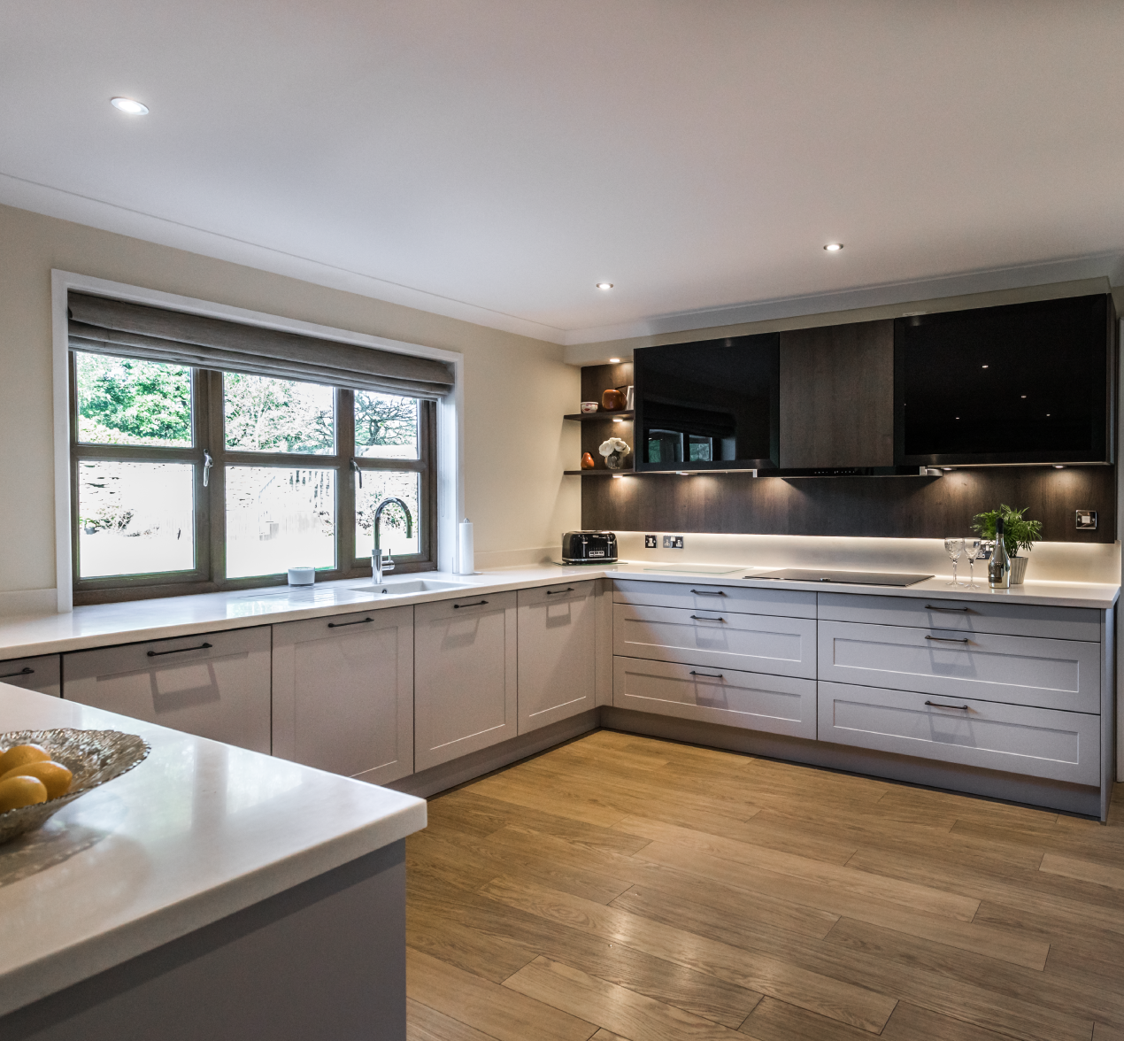 A beautiful, classic kitchen with modern accents and innovative features
