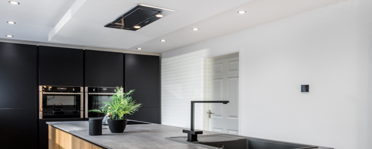 recessed kitchen lighting example in modern kitchen