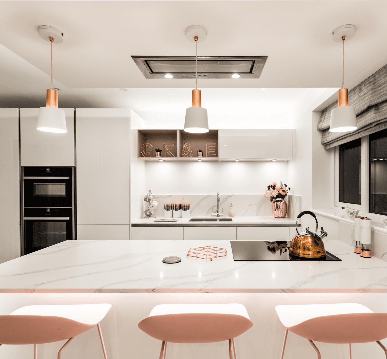 stunning blush kitchen