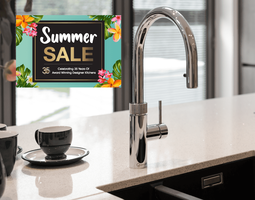Choose a FREE worktop upgrade, OR a FREE chrome Quooker Flex Tap for your dream kitchen